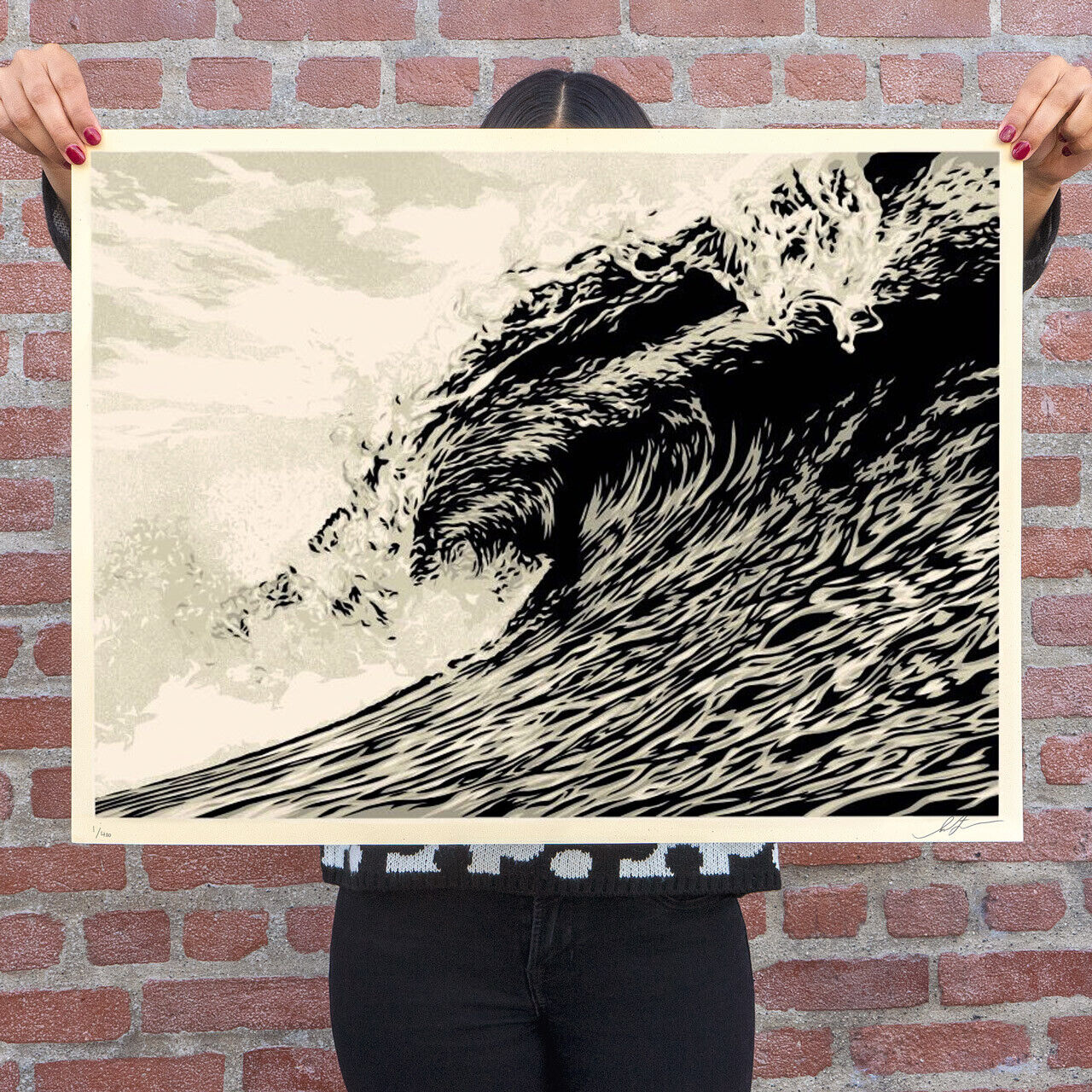 Diving with the Megalodon Mancave Poster Print | metal posters - Displate | Displate