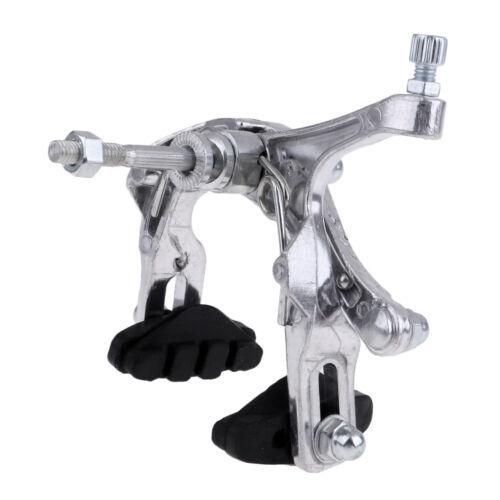 Dual Pivot Bike Side Pull Caliper Brake Front Brake Resin Lever Cable Silver