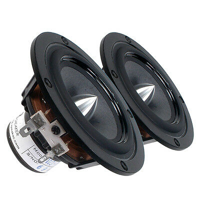 "Pair Tang Band W3-1364SA 3"" Bamboo Cone Driver Speaker 8 ohms 25W 86 dB 0.75""VC"