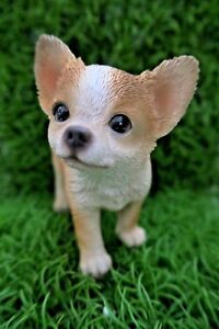 Image Is Loading MINI CHIHUAHUA PUPPY DOG STANDING ANIMAL GARDEN STATUE