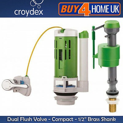 Croydex Toilet Cistern Universal Telescopic Bottom Entry Fill Valve Brass Shank