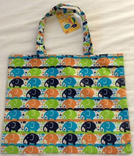 BNWT Carino ELEFANTE IMPERMEABILE Shopping Tote LIBRO Borsa Ragazza Ragazzo bambini regalo kawaii