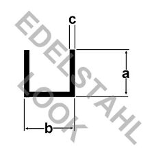 Alu U-Profil 30x30x30x2mm EDELSTAHL LOOK (8€/m) 2m