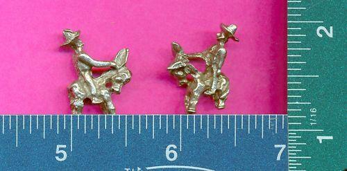 lead free pewter miner//donkey figurine m11028