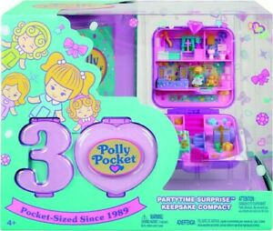 Polly Pocket 30Th Anniversary Partytime Surprise Keepsake Compact With Micro Pol