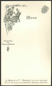 Menu Vierge Virgin Vins Hospices De Beaune Bourgogne Herouard Illustrateur Ebay