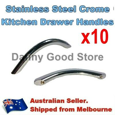 96mm Brushed Stainless Steel Bow Handle Kitchen Cupboard