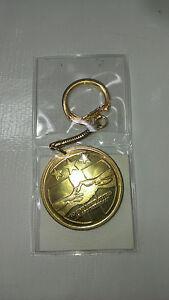 Alpha Tau Omega Key Chain Bronze Coin Good Luck Piece
