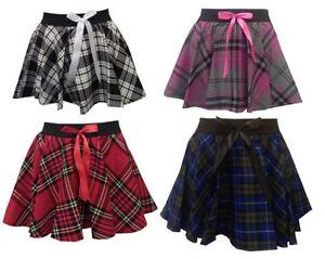 64db6e57c8 Girls Kids Dance School Uniform PE Gym Stretch Red White Tartan ...
