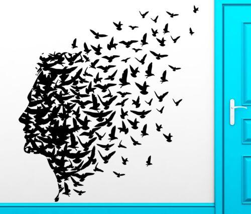 Wall Sticker Vinyl Decal Man Birds Romantic Flying Freedom Mind Cool Decor z2460