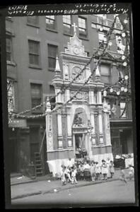 1927-Maria-Shrine-Elizabeth-amp-Grand-St-Manhattan-NYC-Old-Photo-Negative-344B