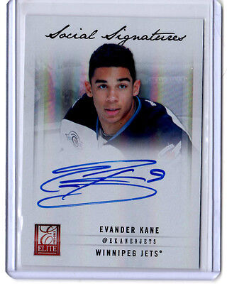 Evander Kane Panini Elite Social Signatures Auto card | eBay