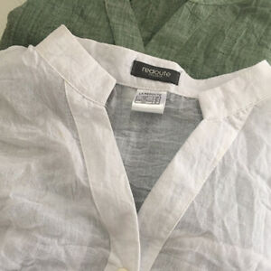 Women-Vintage-Flax-3-4-Sleeve-V-Neck-Cotton-Linen-Denim-Loose-Shirt-Top-Blouse