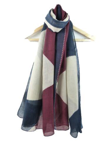 Beautiful Large Block Printed FashionScarf  Soft Shawl Wrap Scarves Hijab Scarf
