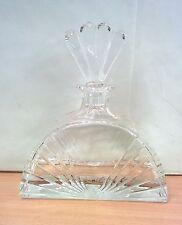 Bottiglia Design COLLE in cristallo marchiata rara cm 21 Whisky Cognac Brandy