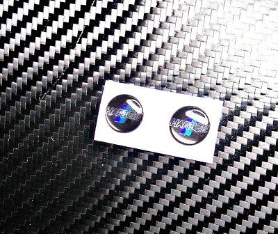 2x Hartge 3d Badge Sticker Chrome Background