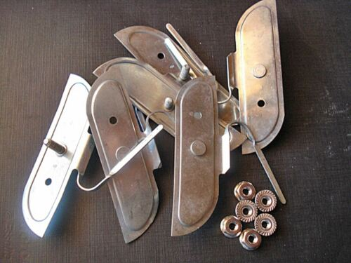 """6 pcs NORS fender door body belt side trim clips nuts for 3/"""" moulding fits Mopar"""