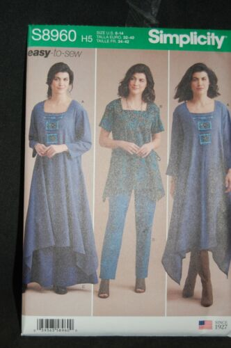 Simplicity /'Easy-to-Sew/' Ladies Wide Leg Trousers Skirt Tunic Dress S8960 H5 R5
