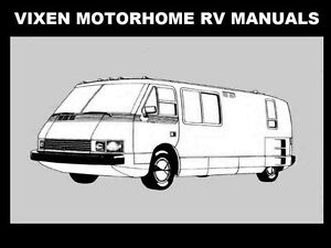 vixen rv motorhome owner service operation manual 100pg for repair rh ebay com RV Motorhomes Vehicle Class A RV