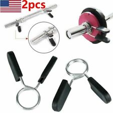 2Pcs 25mm Barbell Collar standard Clips Dumbbell Weight Bars Clamp Adjuster Lock