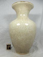 Schöne große 50´s design Schumann Diamant Craquelé Porzellan Vase 39 cm