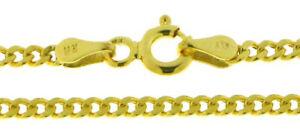 Edle-Panzer-Kette-Halskette-fuer-Sie-amp-Ihn-585-Gold-14-kt-Gelbgold-45-cm-lang