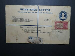 India-1931-Registered-Letter-Cover-to-USA-Z11628