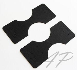 50 pcs of blank necklace ponytail holder earrings display card in black for for ebay. Black Bedroom Furniture Sets. Home Design Ideas