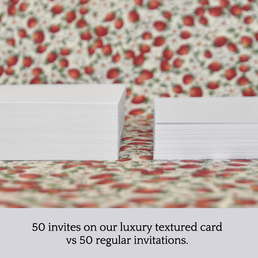 Personnalisé floral frame wedding invitation blanc avec texte-marron olive kraft olive texte-marron db50eb