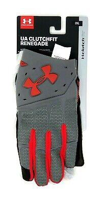 621b74dd3f NWT Under Armour XXL 2XL UA CLUTCHFIT RENEGADE Training Gloves Red Grey One  Pair | eBay