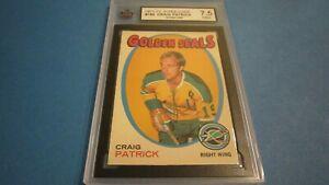 1971-72-O-PEE-CHEE-NHL-HOCKEY-CARD-185-CRAIG-PATRICK-ROOKIE-KSA-7-5-NM-OPC
