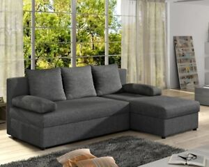 Corner Sofa Bed GINO with Storage Container Springs Universal Corner ...
