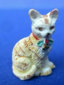 1.5x2 DOLLHOUSE MINIATURE PRINT OF PAINTING RYTA 1:12 SCALE KITTEN CAT KNITTING