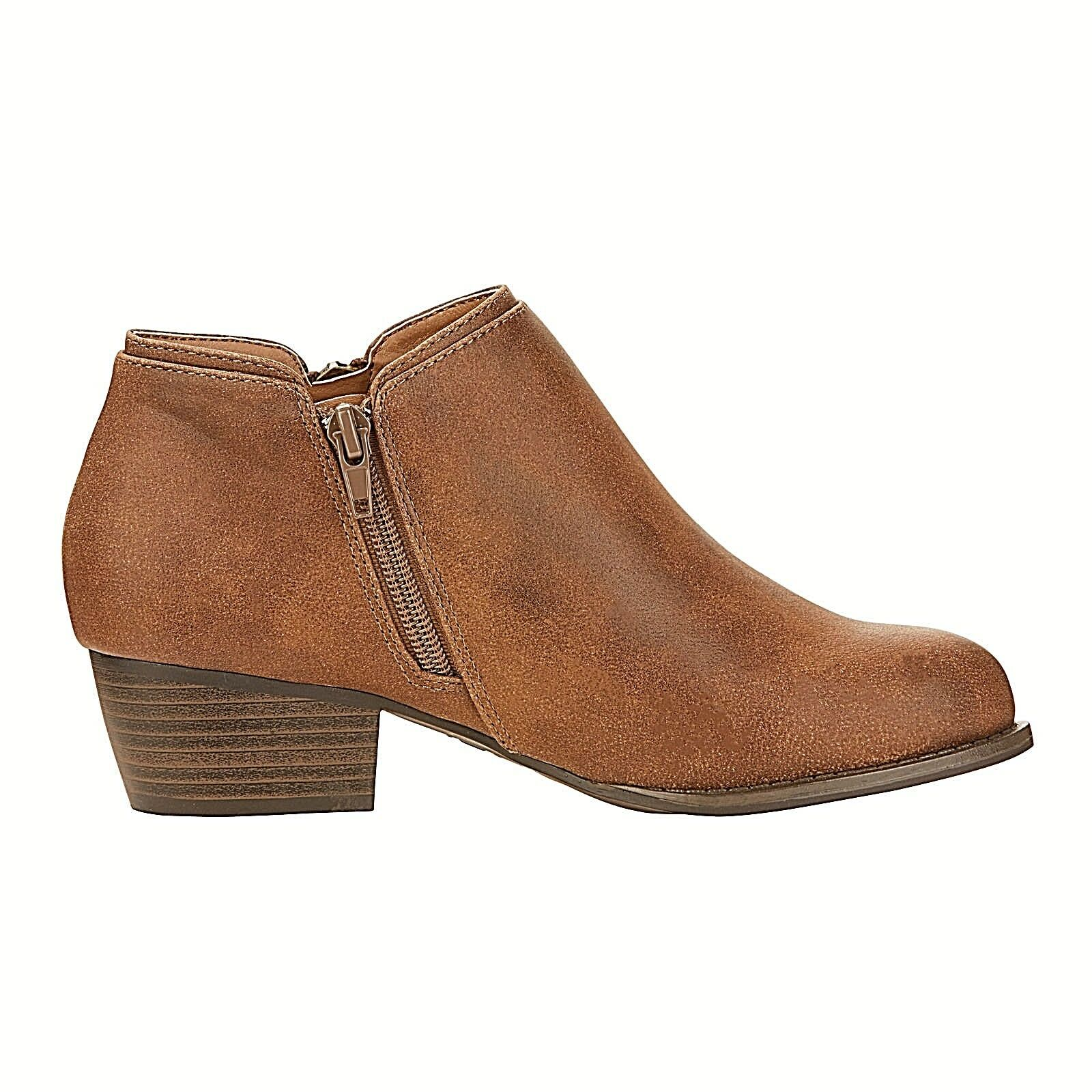 JBU Triumph Zippered Ankle Boots Brown Size 8.5 M FREE 2-3 Day Shipping