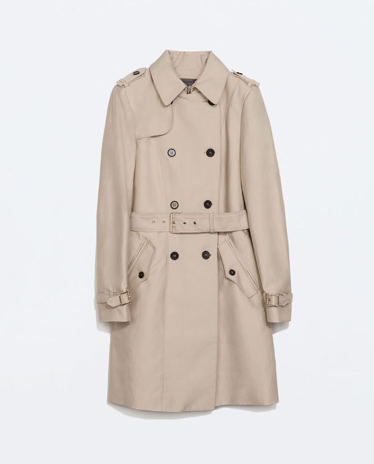 SOLD OUT ZARA COTTON TRENCH COAT BEIGE EURO 36 US 27 XS autumn winter 2015