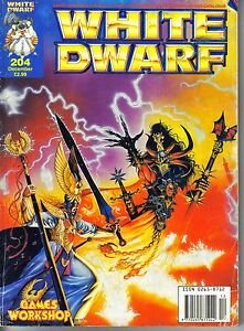 White Dwarf 204 with Warhammer Quest article.