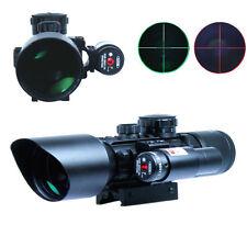 3-10x40 Tactical Rifle Scope Red Laser Dual illuminated Mil-dot w/ Rail Mounts
