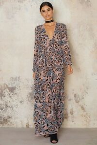 7fb3b4111c377 $250 FOR LOVE & LEMONS 'Gracie' Maxi Dress in Nude Floral Print XS ...