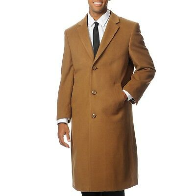 great variety models another chance modern techniques L40913C I Pronto Moda Men's 'Harvard' Camel Cashmere Blend Long Top Coat |  eBay