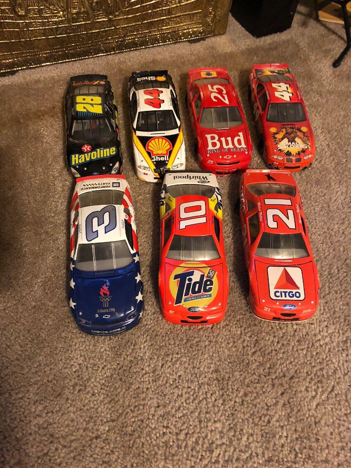 Masse Of Jahr NASCAR Racing Die Cast Scale Modell Autos 1 24 Tony Stewart Rare