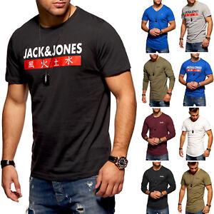 Jack-amp-Jones-Manches-Courtes-Manches-Longues-Shirts-T-shirts-Basic-Shirts-Chemise-Longue