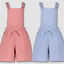 Girls Gingham School Dress Bib shorts Easy iron Size 3-12 YRS BNWT