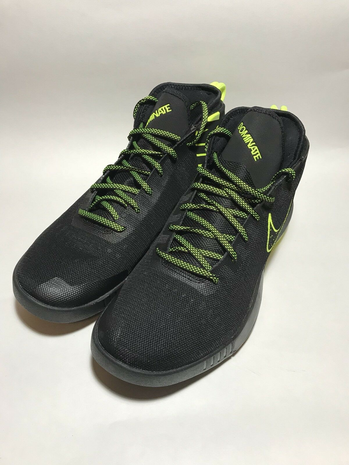 NEW NIKE AIR MAX DOMINATE BLACK VOLT DARK GREY 897651-003 SIZE 11 (No Box)