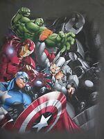 Disney Store Men's Avengers Short Sleeved T-shirt 2xl Xxl Gray