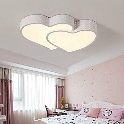 24W LED Deckenleuchte Deckenlampe dimmbar mit Fernbedienung Herz-Design weiß