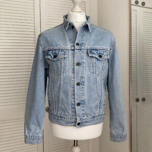LEVI-STRAUSS-70503-02-Veste-en-jean-taille-M-vintage-pour-Homme-90-S-jean-Trucker-Bleu