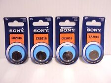 Lot of 4 Sony CR2016 3V Lithium Button/Coin/Cell Battery 1-pk 2022 Genuine NIP