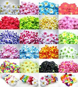 100pcs 3 silk hawaiian plumeriafrangipani orchids artificial image is loading 100pcs 3 034 silk hawaiian plumeria frangipani orchids mightylinksfo