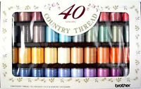 Brother Embroidery Machine Embroidery Thread COUNTRY Box of 40 - B247