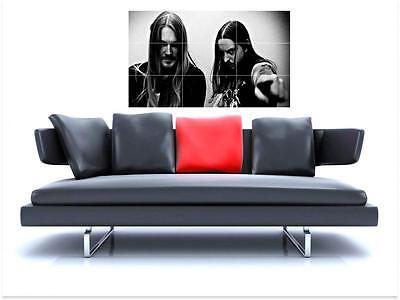 "DARKTHRONE BORDERLESS MOSAIC TILE WALL POSTER 35"" x 25"" BLACK METAL"